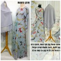 maura syari grey baju muslim
