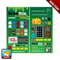 BRICKSTIX REUSABLE STICKER ZOMBIES - Stiker untuk LEGO Bricks