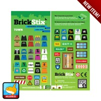 BRICKSTIX REUSABLE STICKER TOWN - Stiker untuk LEGO Bricks