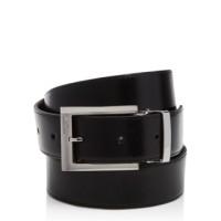 TUMI Black Polished Harness Reversible Belt