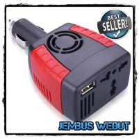 harga Compact Power Car Inverter 150W 220V AC EU Plug and 5V USB Charger Tokopedia.com