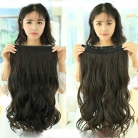 HAIRCLIP / HAIR CLIP BIG LAYER CURLY / WAVY BLACK