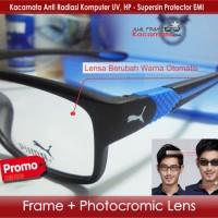 Jual Kacamata Puma + Photocromic Lensa Minus | Frame Baca Sporty Pria Motor Murah