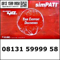 Nomor Cantik Telkomsel simPATI 4G Panca Bahan Sakti 08131.59999.58