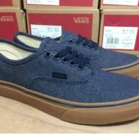 sepatu casual pria vans authentic washed blue
