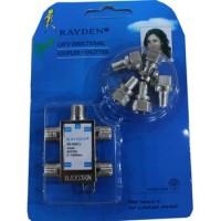 WL Splitter TV Merk Rayden 4 Cabang (CATV Directional Coupler)