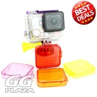TMC Under Sea Filter Cover For GoPro HD Hero 3 + - HR121 - Red'2NYZON-