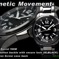 Seiko Kinetic SKA465P1 Black Dia-Bracelet WR 100M | Jam Pria SKA465