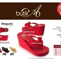 Harga sandal megumi wanita cherry sandal spon ringan empuk ny | Pembandingharga.com