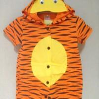 baju jumper terusan bayi laki cowo 3D menonjo murah lucu tiger