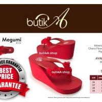 Harga sandal megumi wanita cherry sandal spon ringan empuk harga murah | Pembandingharga.com