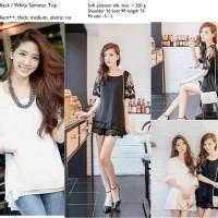 Atasan Blouse Lace Putih Import Murah Limited