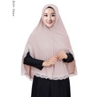 harga Jilbab Muslimah Model Syria Jumbo Motif List Renda Brukat - JL616 Tokopedia.com