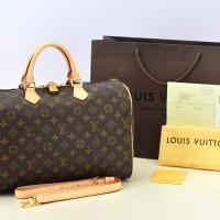 Tas Wanita Import Louis Vuitton LV Speedy Bandouliere 35 Monogram ORI