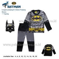 Baju Anak Kostum Batman Murah + Aksesoris Topeng