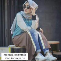 grosir baju murah / baju Long dress / Monnel long Tunik YK0A