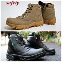 sepatu kickers tracking zipper / boot kerja kantor/sepatu pria safety