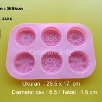 harga cetakan kue bulan 6 cav bahan silikon Tokopedia.com