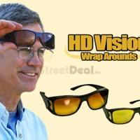 Kacamata Night Vision Anti UV Alat Sopir Lihat Malam Siang Kaca Mata U
