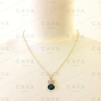 harga Kalung Rabbit Crystal Gold Emerald Necklace Emas Kristal Swarovski Tokopedia.com