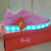 Sepatu Nike Cewek Wanita Led Shoes Pink
