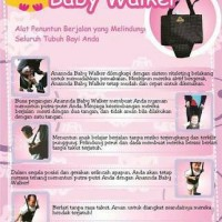Anannda Baby Walker Full Body, Alat Bantu Belajar Jalan Bayi,MoonWalk