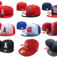 harga Topi Fitted New Era 59fifty Baseball MLB Los Angeles Angels - Import Tokopedia.com