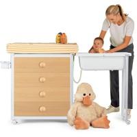 BREVI Idea baby dresser (WHITE), lemari bayi, bak mandi bayi