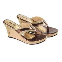 Sandal Wedges Original/ Sandal High Heels Branded Blackkelly LAN 375
