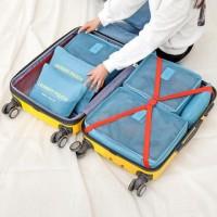Set Travel Bag 6 in 1 Organizer Bag in Bag Penyimpanan Serbaguna Gizel