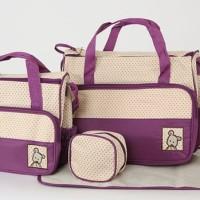 5 in 1 Tas Perlengkapan Bayi Lengkap Shoulder Bag Hand Bag Fashion