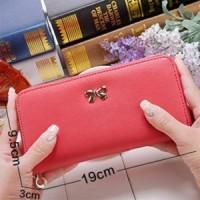 harga dompet simpel pita Korean cross pattern purse bow bdo022 Tokopedia.com