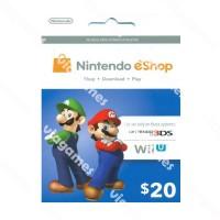 Nintendo Eshop Usd 20