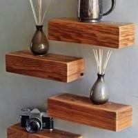 floating shelf 1set (4pcs) / ambalan / rak dinding / rak minimalis