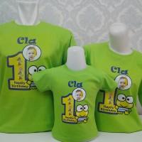 Kaos Family Keroppi Birthday Theme_Baju Couple Keluarga_Baju sarimbit