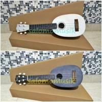 ukulele soprano hofma hawaii pinapple varian warna + softcase