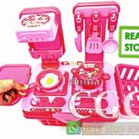 Lovely Kitchen Set Mainan Masak Masakan Edukasi Anak Pink SNI