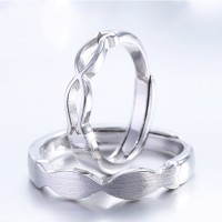 cincin tunangan emas putih dan palladium simple unik elegan