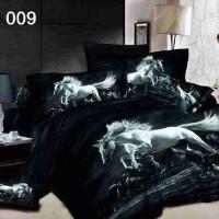 Sprei Dan Bedcover Katun Jepang Panel Motif White Horse Uk.180x200x30