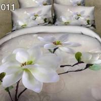 Sprei Katun Jepang Panel Motif Bunga Melati Putih Uk.200x200x30