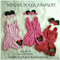 Jual Jumper baby polka minnie mouse/ romper jumpsuit bayi polkadot Murah