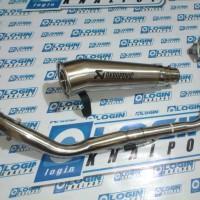 Knalpot Racing Xabre Dan R15 Akrapovic Megaphone Fullsystem