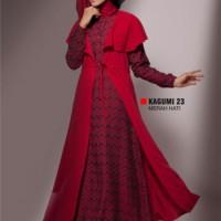 Gamis Busana Muslim Premium Ukhti Kagumi 23 Merah Hati