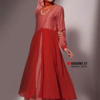 Gamis Busana Muslim Premium Ukhti Kagumi 21 Merah Bata