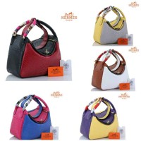 Hermes lindy lizard leather 2Tone Free Twilly