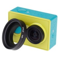 UV Filter Lens 37mm With Cap For Xiaomi Yi Black