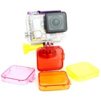 TMC Under Sea Filter Cover For GoPro HD Hero 3 + HR121 Purple