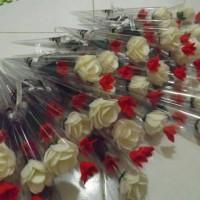 Buket Bunga Mawar Flanel / Mawar Wisuda / Bunga Satuan