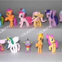 harga Figurin Boneka/ Miniatur Kuda My Little Pony Topi & Spike Dragon FML11 Tokopedia.com