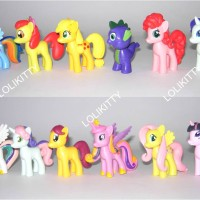 harga Figurin Miniatur Kuda My Little Pony Medium & Spike Dragon FMLP 12 Tokopedia.com